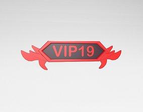 Game VIP Symbol v4 005 3D asset
