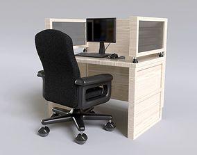 Call Center Station - Office 3D model