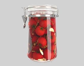 vegetation Pickling Tomatoes in Jars 3D model