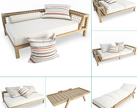 3D Synthesis Wooden Outdoor Furniture Unopiu