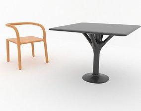 Modern Outdoor Furniture Set lounge 3D model