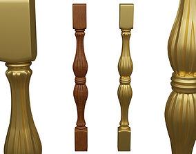 Baluster 3D model carving