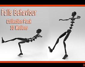 3D model Falls Behaviour Collection Pack