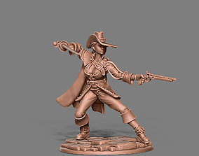 3D printable model Musketeer - Clemence - 35mm scale