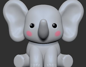 A Cute Elephant to decorate and play 3D printable model