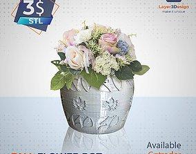 Fall Flower Pot 3D print model