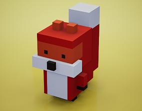 3D asset Voxel - Fox