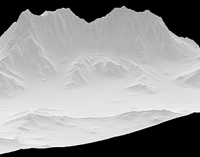 3D asset Sculpted Mountain VR ready
