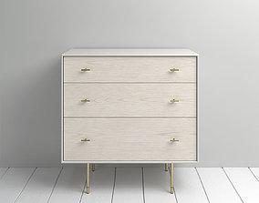 West Elm Modernist Wood Lacquer Dresser Winter 3D