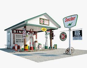 3D model Sinclair gas station