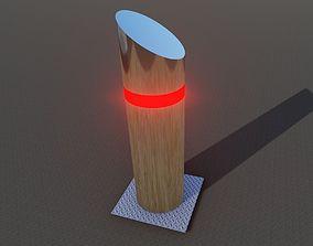 Street Bollard 3D model - Low Poly Game Ready