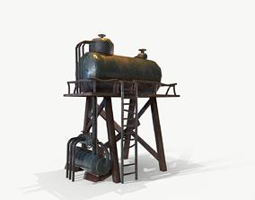 Water Tank Tower 3D asset