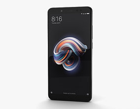 3D Xiaomi Redmi Note 5 Pro Black