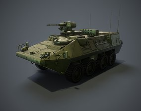 Stryker vehicle with interior VR 3D model
