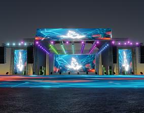 3D model evening Concert Stage