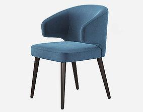 3D Minotti Aston Dining Chair Rodolfo Dordoni