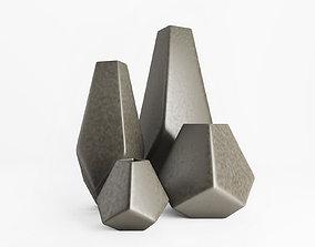 3D model Vulcan Vase Large Textured Bronze