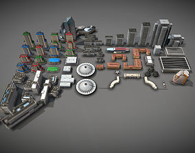 City Buildings Pack 3D asset game-ready
