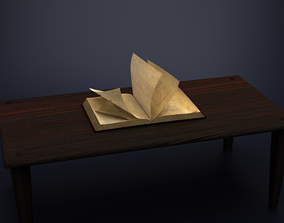 Rigged Animated Book 3D
