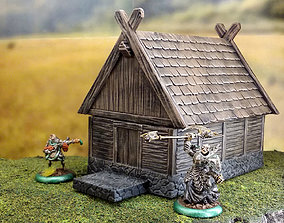 Smaller fantasy viking house 3D print model