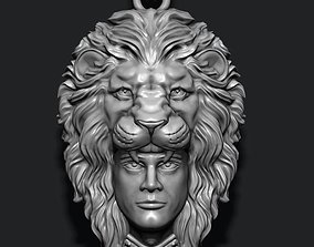 Man lion pendant 3D print model