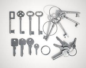 3D model Set Of New and Old Keys