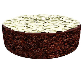 3D Chocolate cake with white chocolate