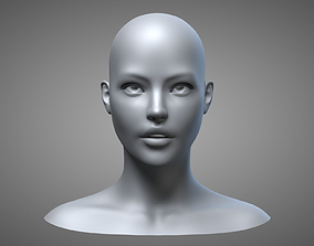 3D Female Head 3