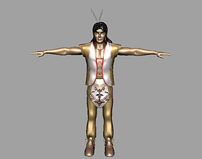 American Indian AAA 3D model game-ready