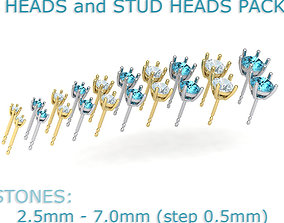 A PACKAGE OF HEADS and STUD EARRINGS many 3D print model