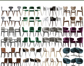 VR / AR ready Collection of Chairs 3d model 12 pieces