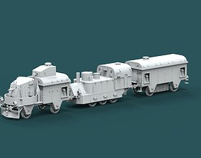 3D printable model armored train