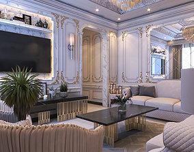 Neo classic living room 3D