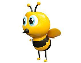 3D animated bee cartoon bee cute