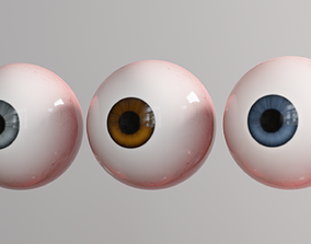 3D asset Cartoon Eye