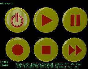 Player buttons 1 3D model