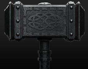 3D model Viking Battle Hammer 4k pbr lowpoly