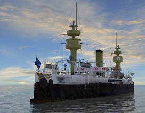 3D asset Battleship Aquidaban