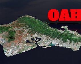 3D asset Oahu Island