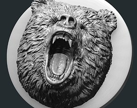 3D printable model art Bear bas-relief