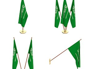 3D Saudi Arabia Flag Pack