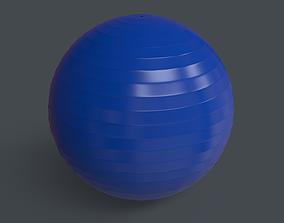 PBR Yoga Ball - Blue 3D model low-poly