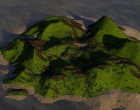 3D mountain house helipad