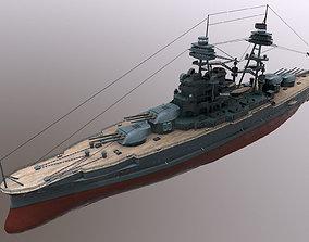 3D model USS Arizona Battleship