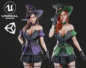 3D asset Witch - Game Ready
