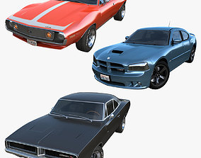 American muscle cars 3D model