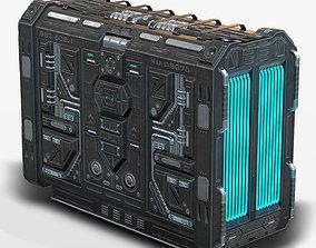 3D model realtime Sci Fi Generator Low Poly