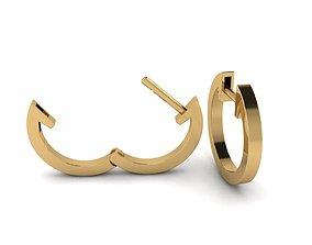 3D print model Round Hoop Earrings