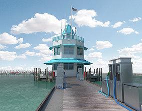VR / AR ready Marina Model of Floating Dock