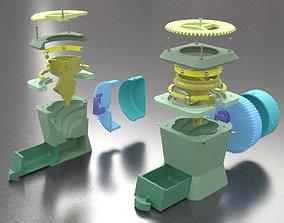 Hyphoon - Large Format Dry Herb grinder 3D print model